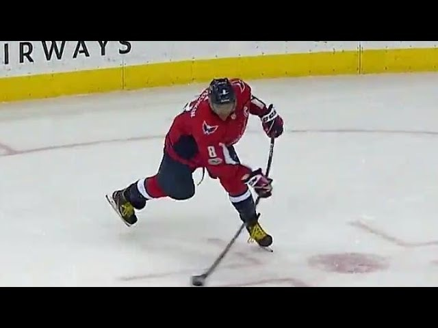 Capitals Ovechkin fires laser past Bobrovsky from his office