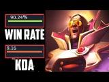 TOP 1 Invoker In The World 3k Games 90% Win Rate 23 Kills 750 GPM Insane Game 8k MMR 7.00 Dota 2