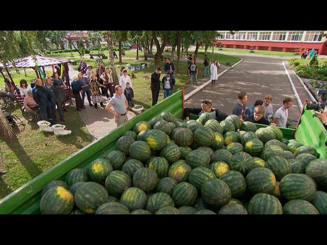 Шесть тонн арбузов привезли ученики Острошицко Городокской школы для жителей д