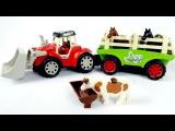Видео для детей с игрушками - Трактор и животные на ферме - Диди ТВ