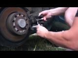 Замена задних колодок на VW,SKODA без специального съёмника