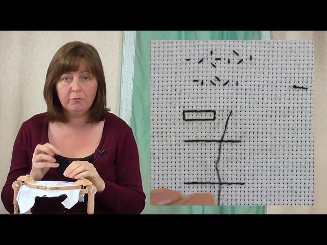Hand Embroidery - Blackwork stitches tutorial