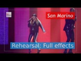 Valentina Monetta and Jimmie Wilson - Spirit of the Night - San Marino - Second Rehearsal - 4K