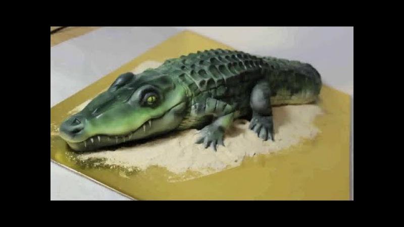 Фантастические формы тортов! Крокодил, сало и многое другое!