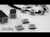 How to make a kaleidoscope cane - DIY necklace polymer clay tutorial