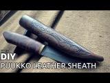DIY puukko leather sheath