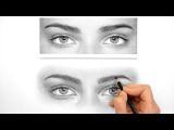 How I draw and shade Realistic Eyes with graphite pencils
