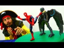 Игрушки Супергерои Битва ЧеловекПаук и Стервятника 👊 Спасатели Животных Вид