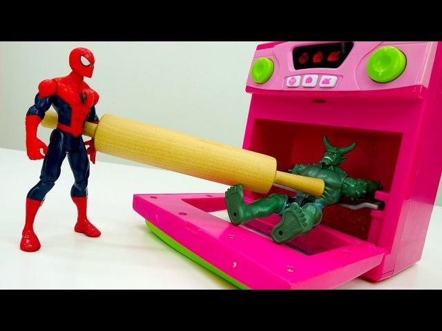 Видео игры 🍴 Голодные войны! ЧеловекПАУК против Зелёного Гоблина! Супергерои ...