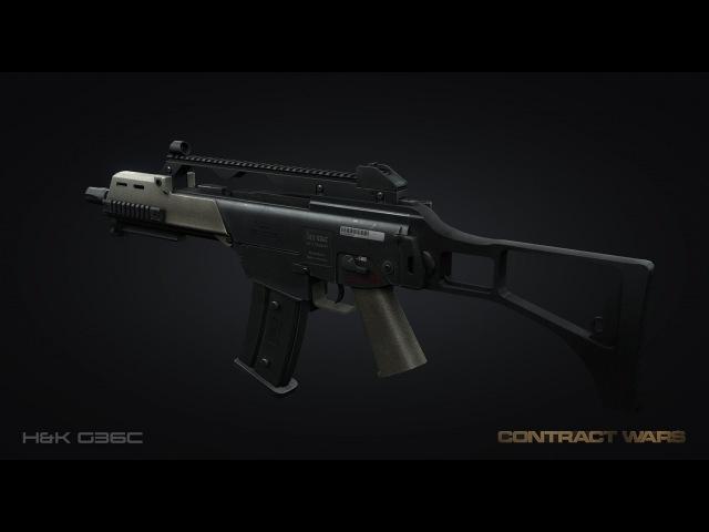 Обзор на штурмовую винтовку G36C(W-TASK) в игре Contract Wars