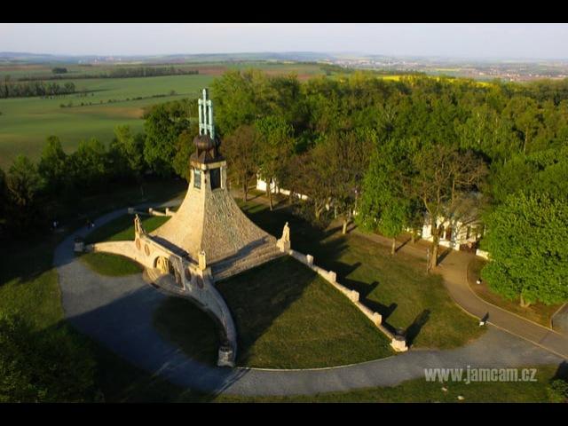 Mohyla miru,aerial cinema Czech Republic