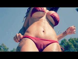 Hot Playboy Model Tehmeena Afzal Baywatch in Aruba Beach | Big booty