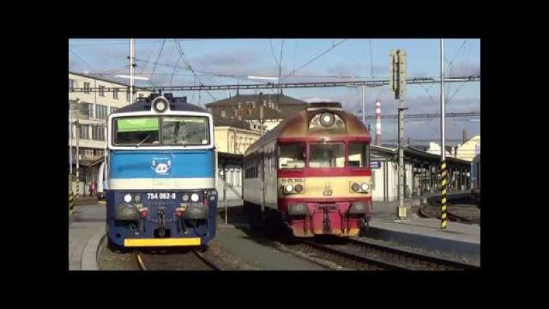 Vlaky Brno hlavní nádraží 14.11.2017