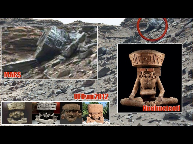 Ancient Aliens On Mars: Huehueteotl found by Curiosity, The Old Fire God Of The Aztec