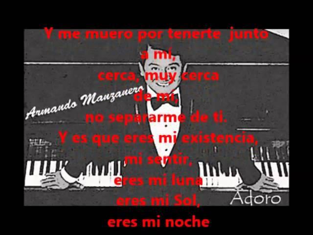 Armando Manzanero - Adoro 1967 LETRA