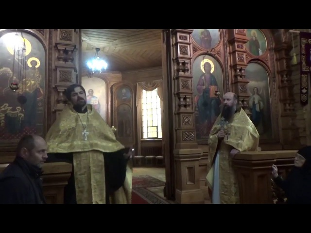 Объявление о.Сергия Чекоданова о времени и месте воскресной школы для взрослых