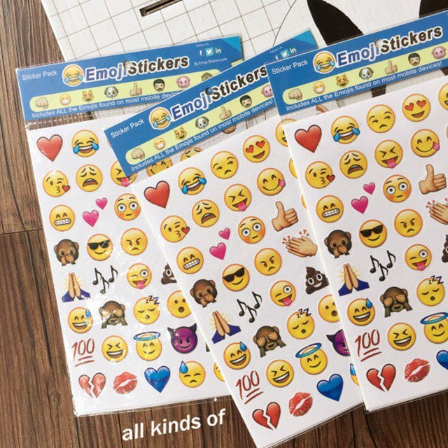 Наклейки Смайлики Emoji 105 4 листа