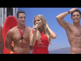 Madame Tussauds Hollywood unveils new Zac Efron Baywatch wax figure with Carmen Electra and the men