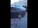 Водитель  Соляриса собрал паровозик на Канале Грибоедова у Гороховой