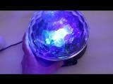 Праздничный диско-шар с колонкой и MP3-плеером USB