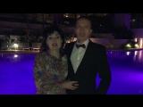 Светлана и Олег Лисины у бассейна в Майами