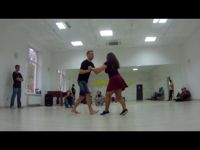 Женя и Настя танцуют баяо после мастер-класс по форро.