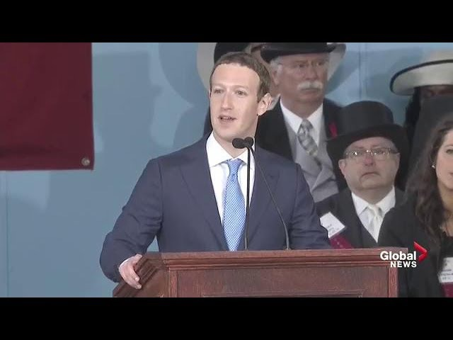 Facebook CEO Mark Zuckerberg delivers Harvard commencement full speech