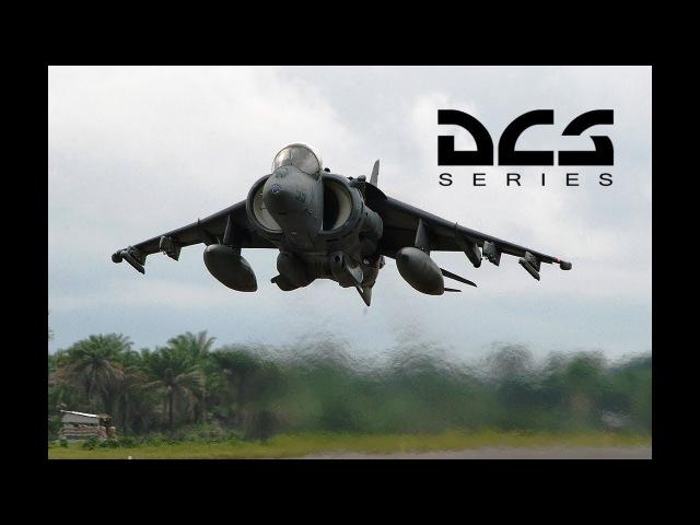 DCS World AV 8B Harrier II холодный запуск на стоянке перевод официального ролика