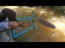Amazing Man Uses PVC Skyblaster Slingshot Bowfishing To Shoot Huge Fish -Make n Use