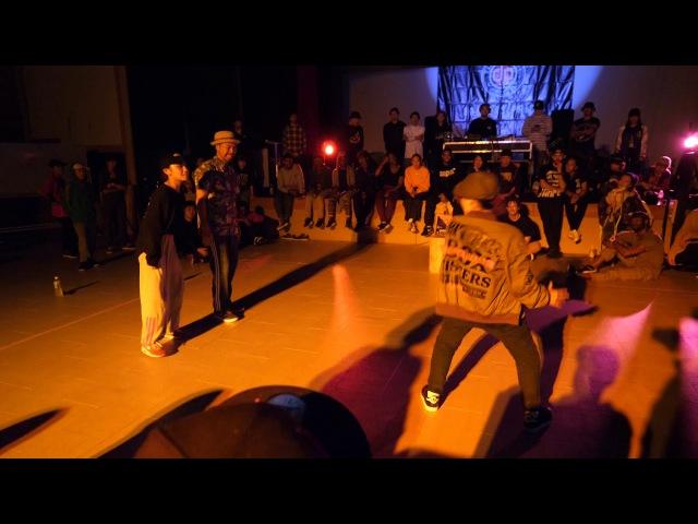 YOSHIE YUKARI vs GUCCHON MiYU BEST8 LOCK SDCJ 2017 Street Dance Camp Japan