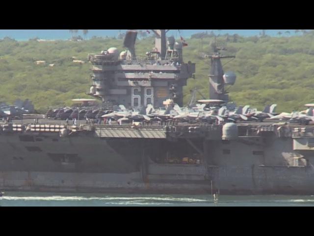 Legendary SUPERCARRIER USS NIMITZ departs Joint Base Pearl Harbor-Hickam!