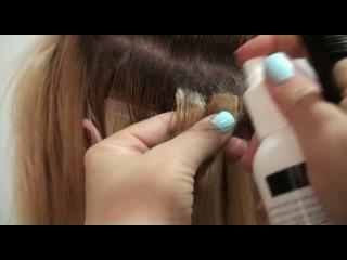 Холодное ленточное наращивание волос