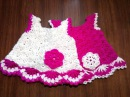 Платье 0-3-6 месяцев. 1\2 часть. Dress for the newborn.