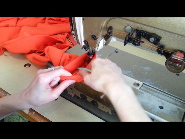 Sewing course part 3 two needle. How to sew a long sleeve shirt Raglan, zipper. Bluza z ekspresem