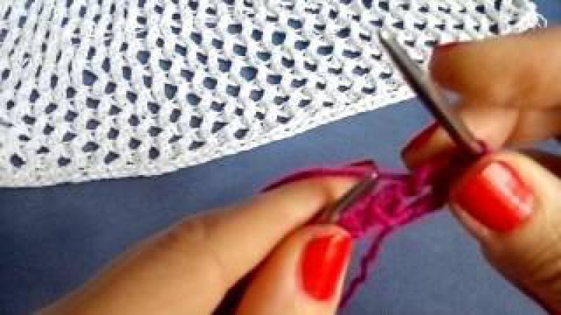 Узор Сетка. Вязание спицами.