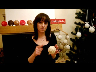 Cotton balls na choinkę :) Jak zrobić kulki bawełniane w formie bombek...?