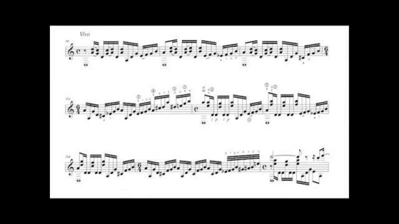 Sergio Assad - Fantasia Carioca for Guitar (1994) [Score-Video]