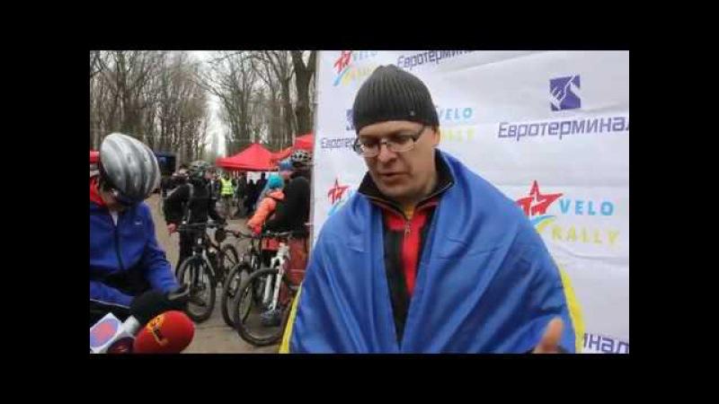 Победитель Велосотки 2017 в Одессе на электровелосипеде Volta bikes даёт интервью