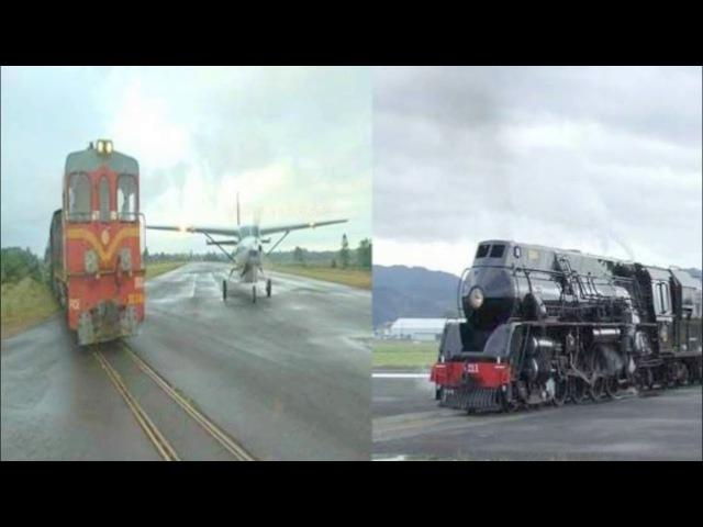 Индийский поезд и самолёт प्लेन को उड़ने से पहले देखनी पड़ती है ट्23