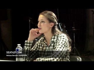 Melissa Benoist SUPERGIRL Set Visit Interview