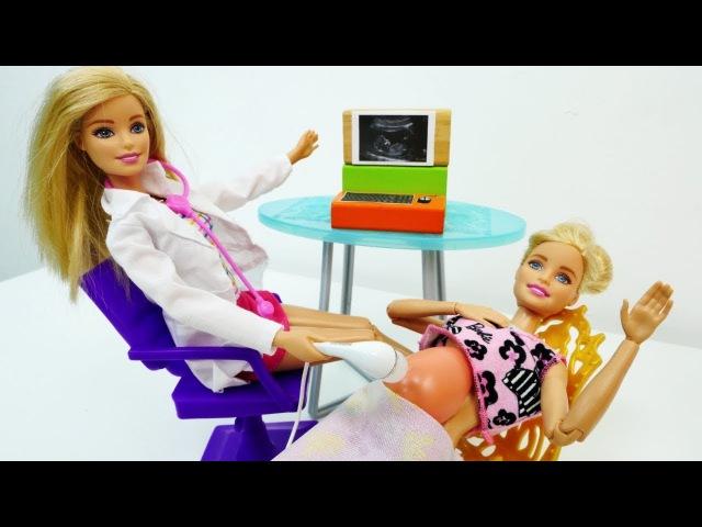 Giochi per bambini con Barbie- Barbie dalla dottoressa tutti gli episodi- Barbie partorisce