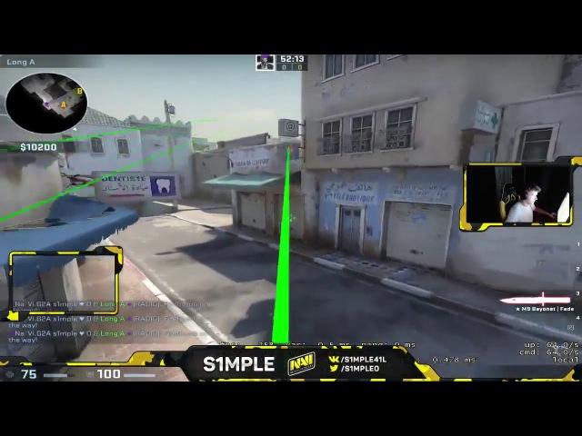 S1mple изучает новый dust_2 тренирует раскидки