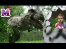 Парк ДИНОЗАВРОВ Мария гуляет в парке вместе с сестрой Лучший парк развлечений д ...