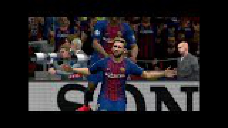 Barcelona vs Sporting CP Highlights | UEFA Champions League | Camp Nou | PES 2017 HD
