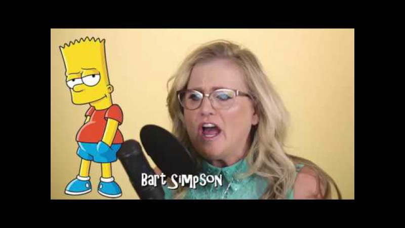 Nancy Cartwright does her 7 Simpsons characters in under 40 seconds