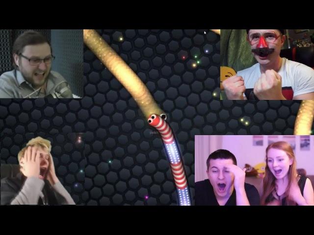 Реакция На Смерть В Игре Slither.io