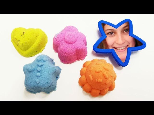 Ayşe ile oyuncak kreşi - Kumdan şekilleri yapalım! Küçük çocuklar için video