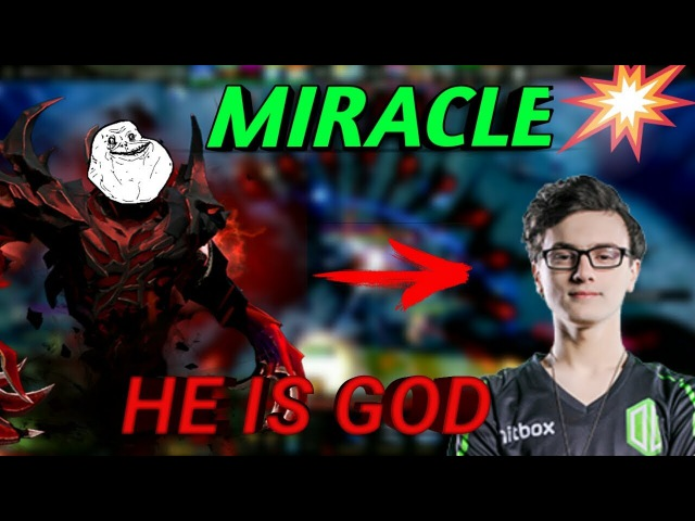 MIRACLE He Is God. Лучший момент за историю. Dota 2 International. Grand Final