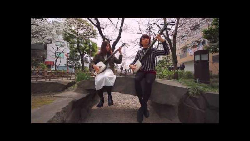 Sakura by KiKi Ver 2 桜変奏曲 輝 Tsugaru Shamisen 津軽三味線