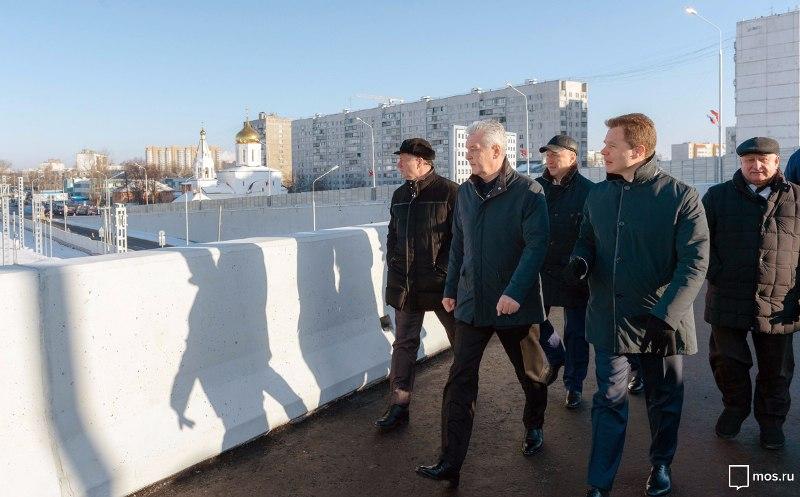 Собянин открыл движение по новому путепроводу в Щербинке // mos.ru